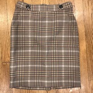 Merona tan plaid skirt